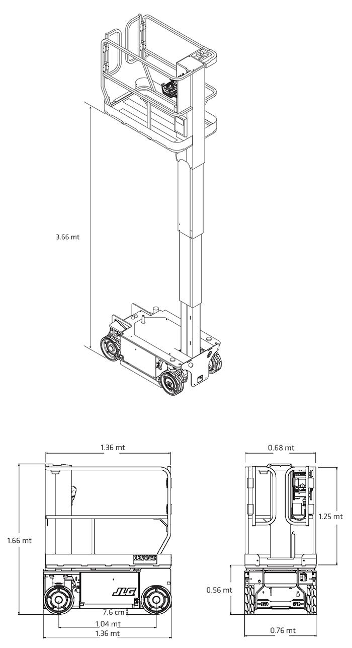 Piattaforma Semovente Verticale Elettrica VE 6 JL - 1230 ES