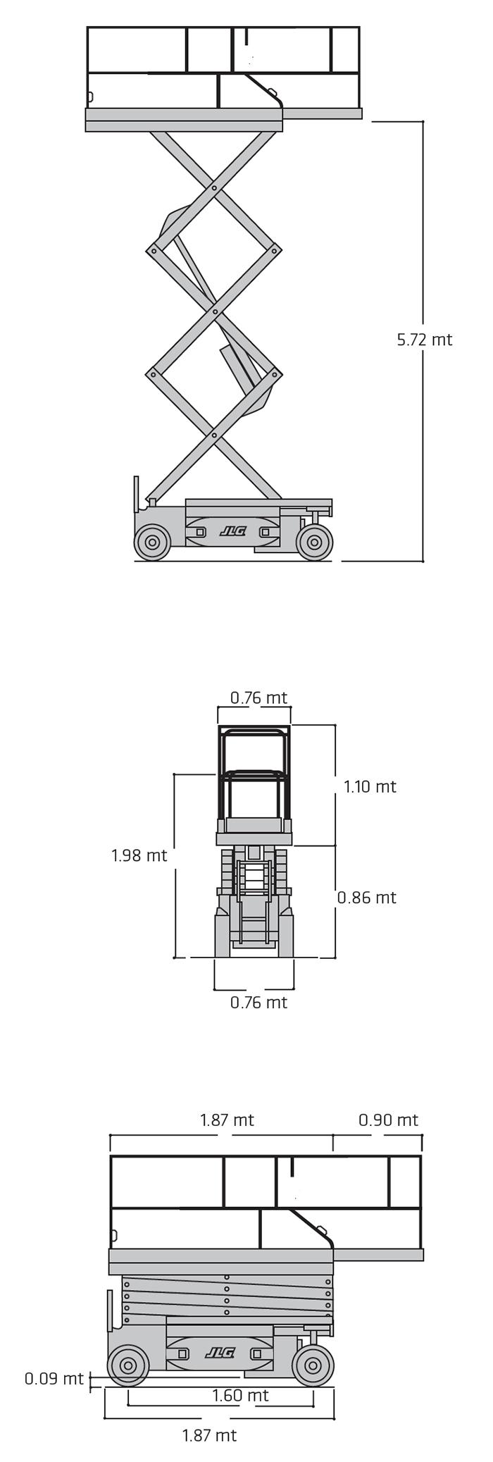Piattaforma Semovente Verticale Elettrica VE 8 JL - 1930 ES