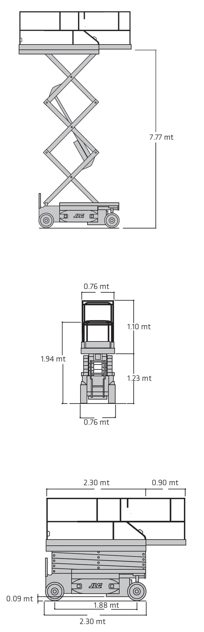 Piattaforma Semovente Verticale Elettrica VE 10 JL - 2630 ES
