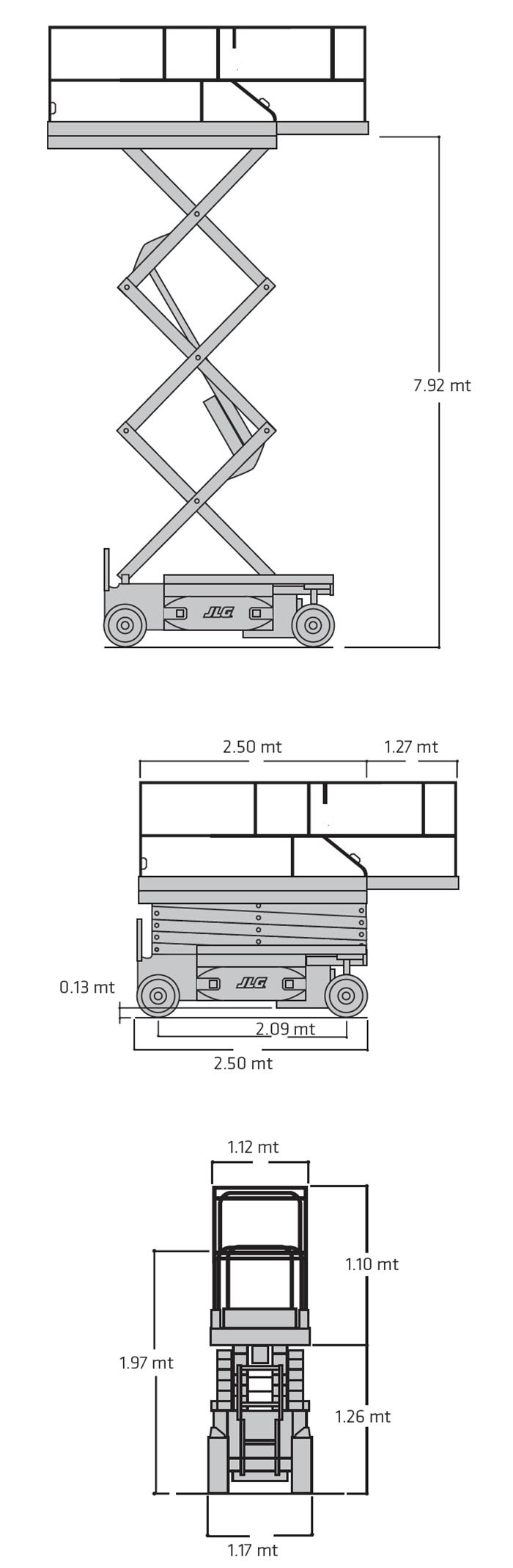 Piattaforma Semovente Verticale Elettrica VE 10 JL - 2646 ES