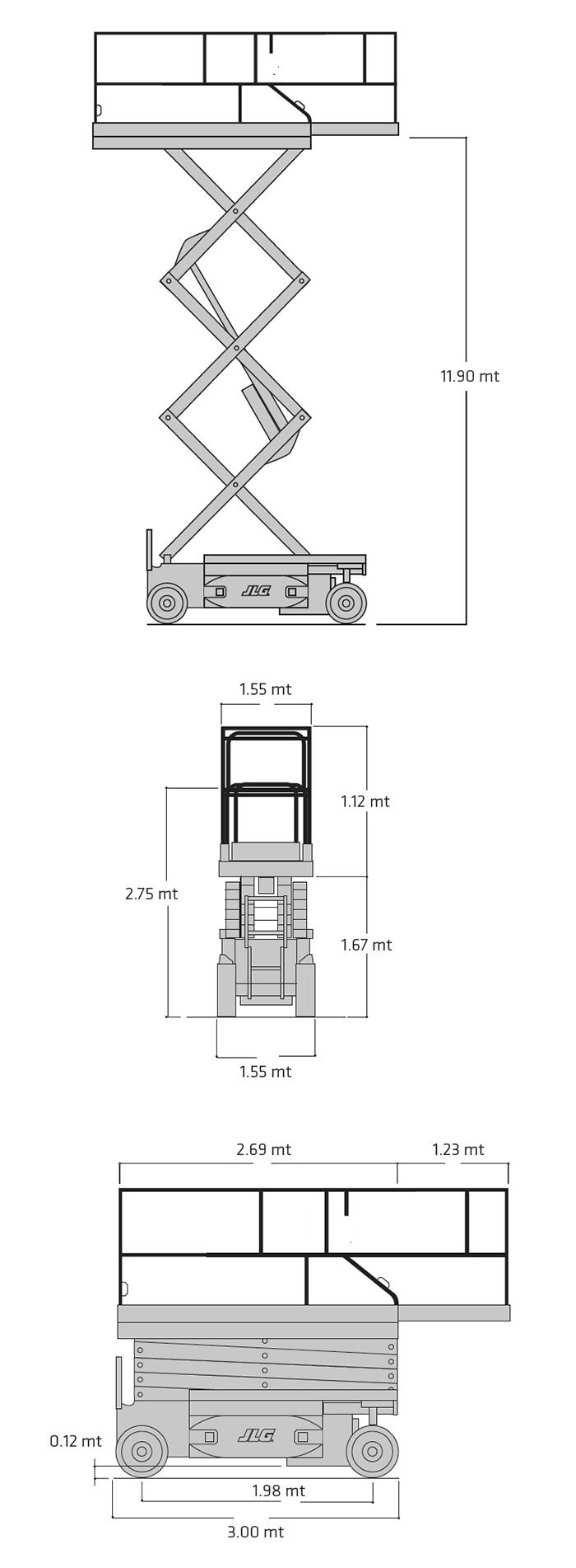 Piattaforma Semovente Verticale Elettrica VE 14 JL - 3969 E