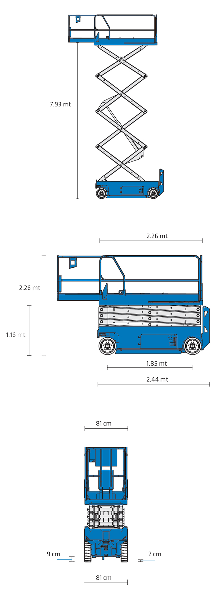 Piattaforma Semovente Verticale Elettrica VE 10 GE - GS 2632