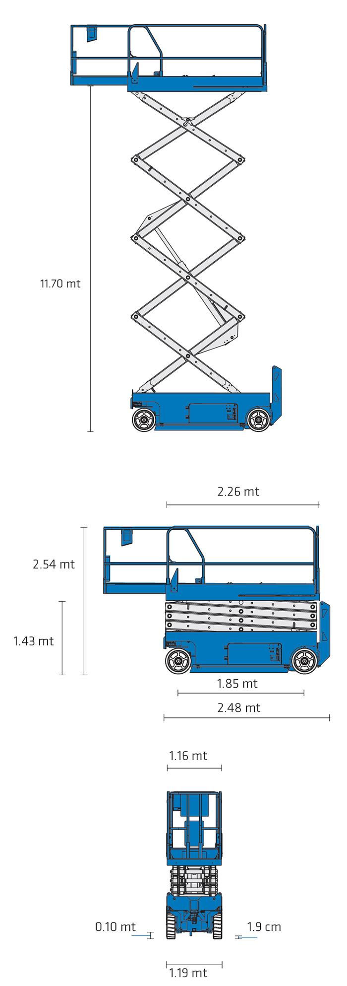 Piattaforma Semovente Verticale Elettrica VE 14 GE - GS 4047