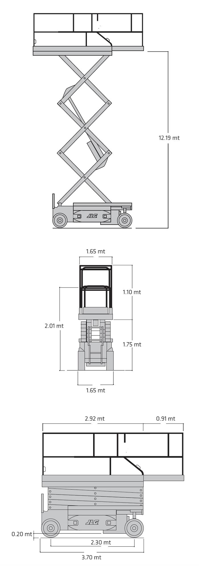 Piattaforma Semovente Verticale Elettrica VE 14 JL - M 4069 LE