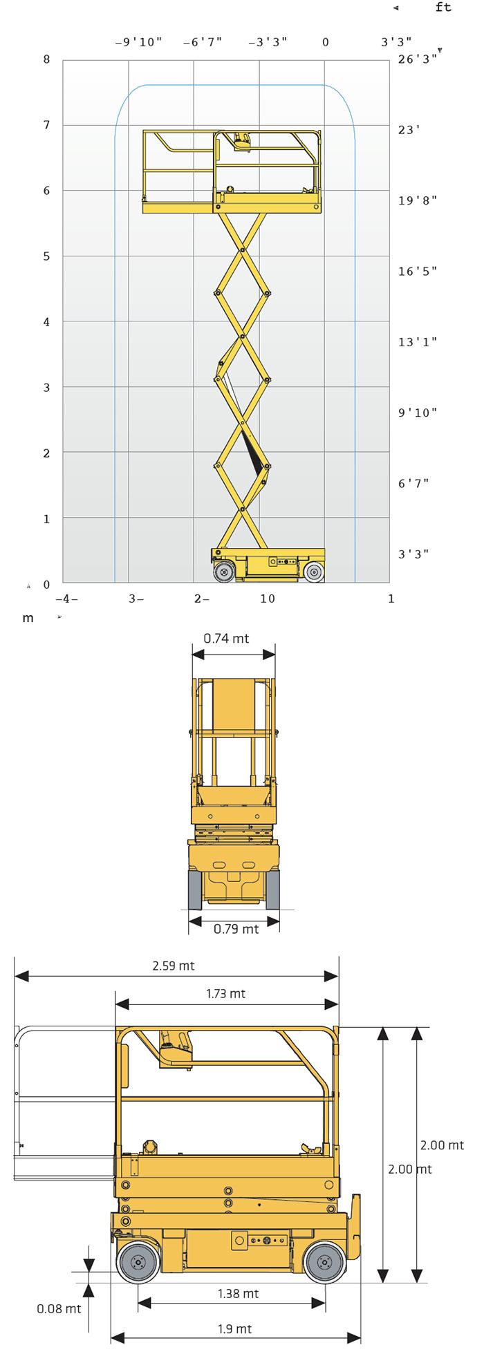 Piattaforma Semovente Verticale Elettrica VE 8 HA - OPTIMUM 8