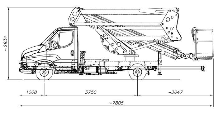 Piattaforma autocarrata CA 20 SO - 20D