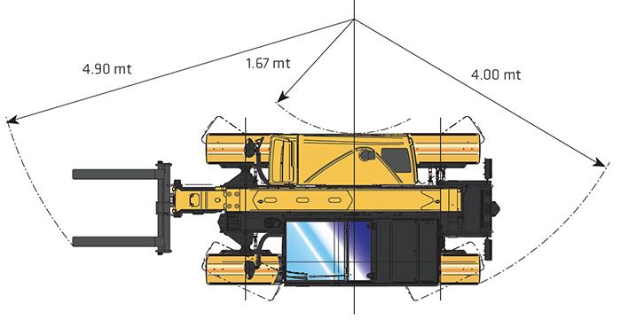 Sollevatore telescopico fisso STF 25.6 GE