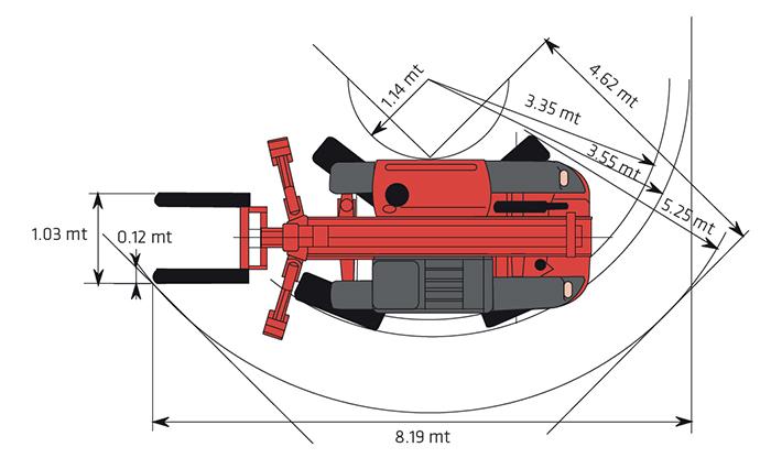 Sollevatore telescopico fisso STF 32.13 MA