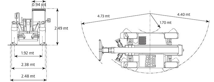 Sollevatore telescopico fisso STF 35.12 DI