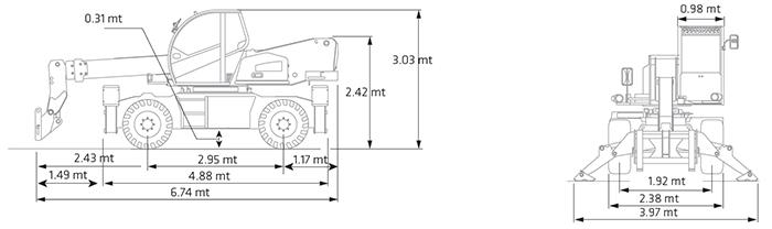 Sollevatore Telescopico Rotante STR 38.16 DI