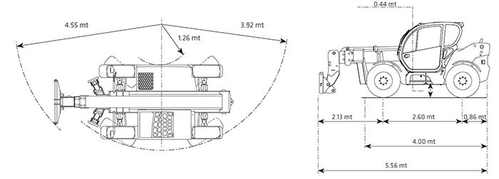 Sollevatore telescopico fisso STF 40.13 DI