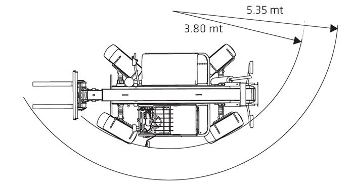 Sollevatore telescopico fisso STF 40.13 JL
