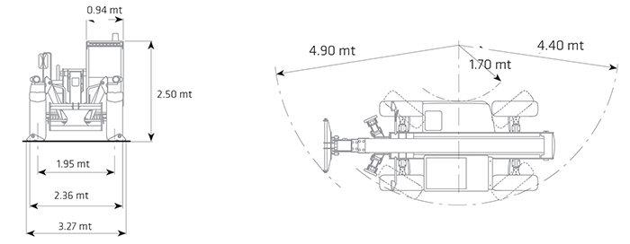 Sollevatore telescopico fisso STF 40.14 DI
