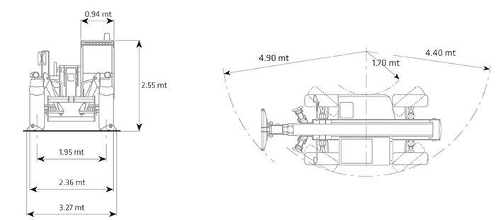 Sollevatore telescopico fisso STF 40.17 DI