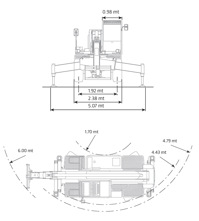 Sollevatore Telescopico Rotante STR 40.25 DI