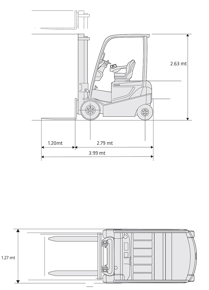 Muletto Elettrico MVE 40.4.00 OM