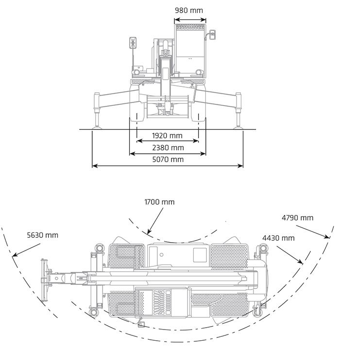 Sollevatore Telescopico Rotante STR 50.21 DI
