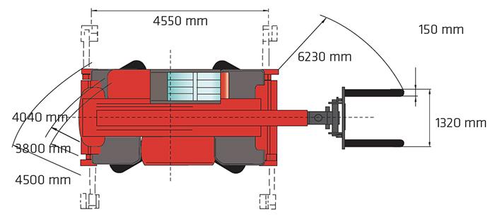 Sollevatore Telescopico Rotante STR 50.21 MA
