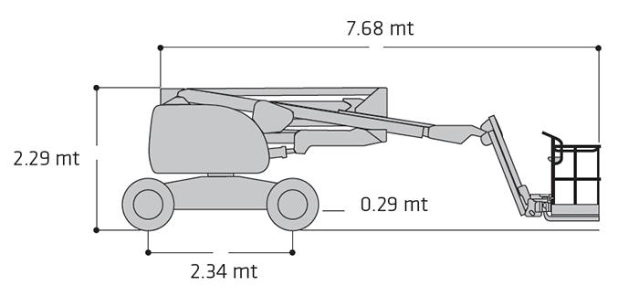 Piattaforma Semovente Articolata Diesel ADX 18 JL - 510 AJ
