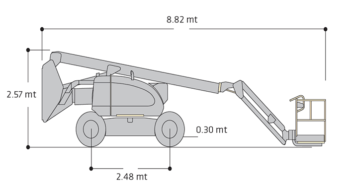 Piattaforma Semovente Articolata Diesel ADX 20 JL - 600 AJ