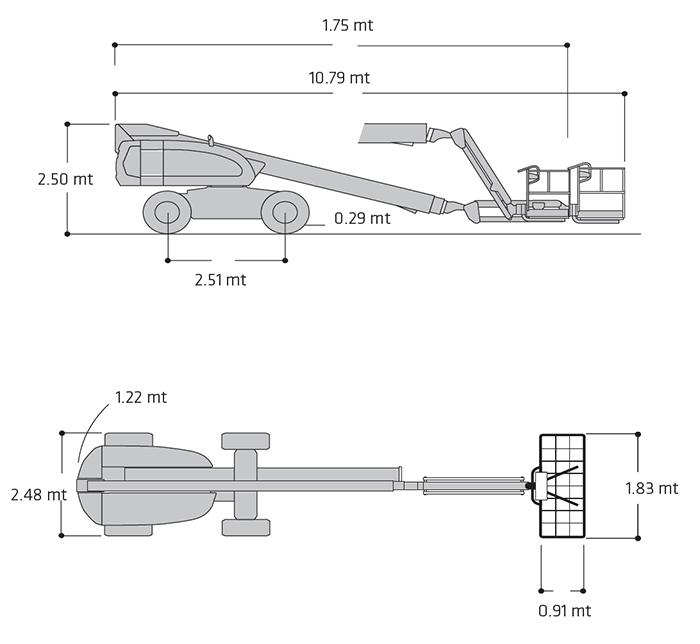 Piattaforma Semovente Telescopica Diesel TDX 22 JL - 660 SJ