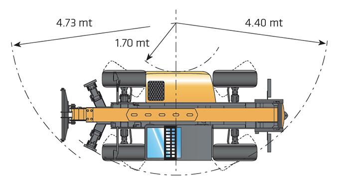 Sollevatore telescopico fisso STF 70.10 DI