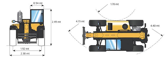 Sollevatore telescopico fisso STF 75.10 DI