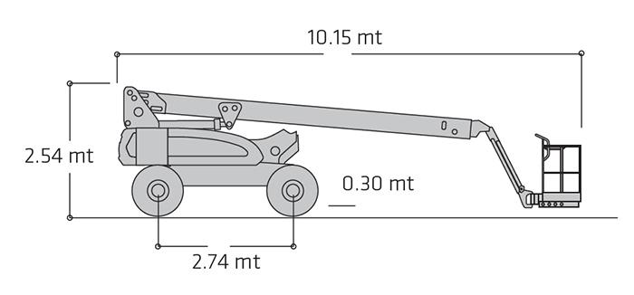 Piattaforma Semovente Articolata Elettrica AE 20 JL - E 600 JP