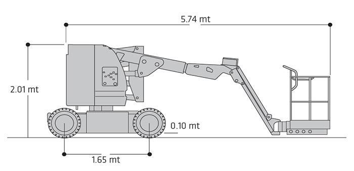Piattaforma Semovente Articolata Elettrica AE 11 JL - E 300 AJP
