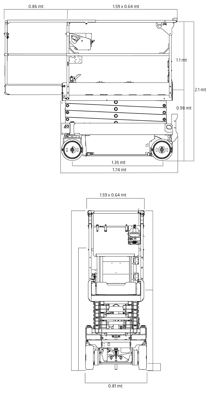 Piattaforma Semovente Verticale Elettrica VE 8 JL - ES 1932