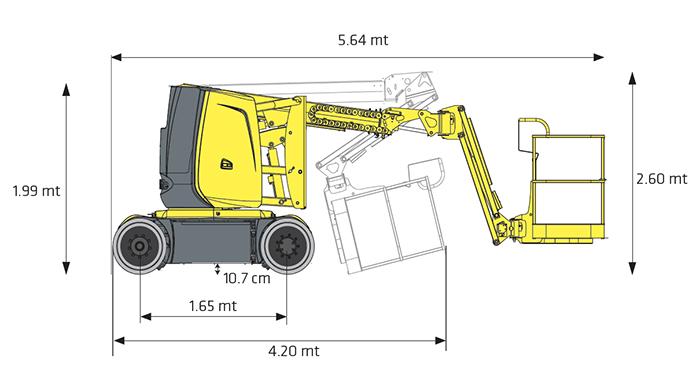Piattaforma Semovente Articolata Elettrica AE 12 HA - HA 12 CJ+