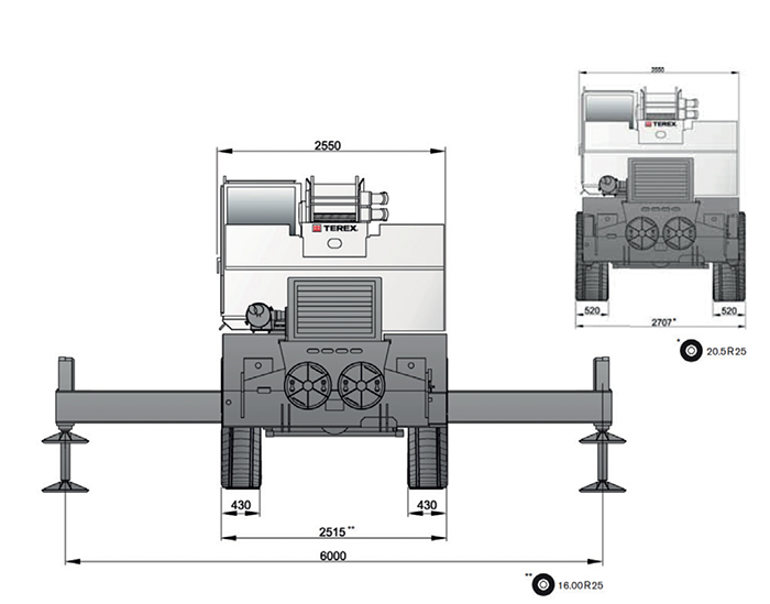 Autogru AU 44 TEREX - RT 45 L