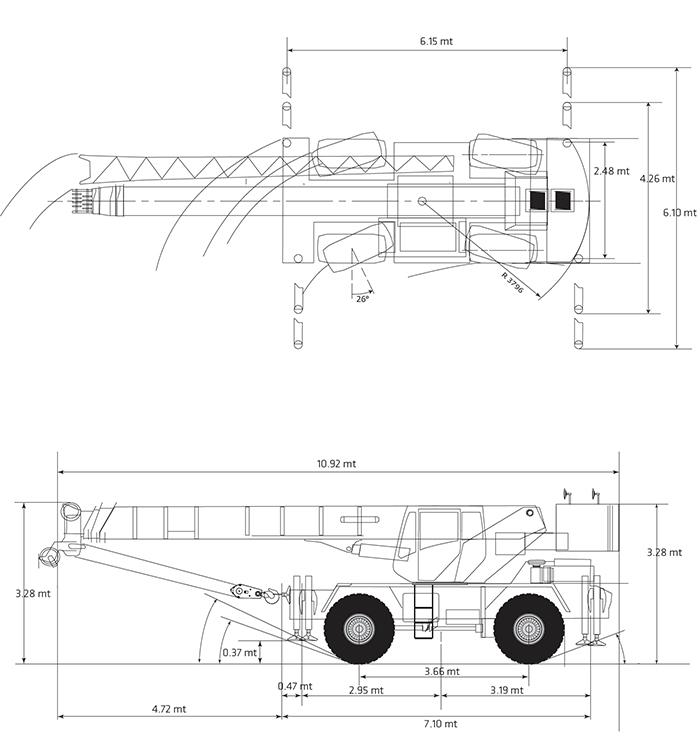 Autogru AU 35 GR - RT 540 E