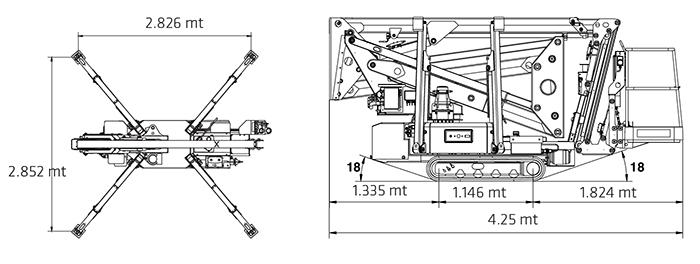 Piattaforma Articolata a ragno RA 17 SE - S Z-170 E