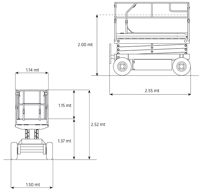Piattaforma Semovente Verticale Elettrica VE 12 AI - SF 1000 IR
