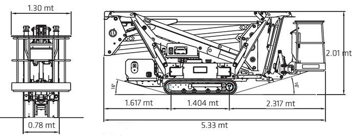 Piattaforma Articolata a ragno RA 23 SE - TRACCESS 230