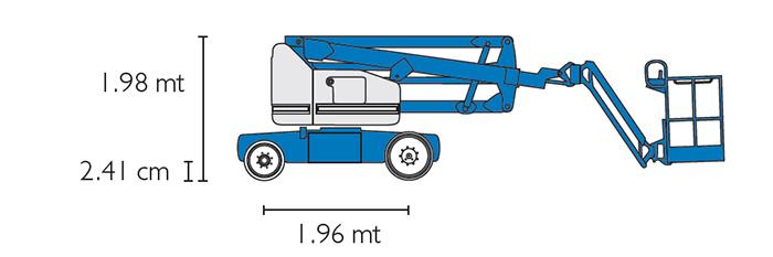 Piattaforma Semovente Articolata Elettrica AE 14 GE - Z 40-23 N RJ