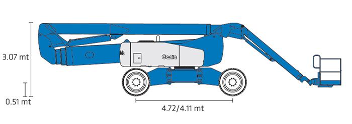Piattaforma Semovente Articolata Diesel ADX 43 GE - Z 135-70
