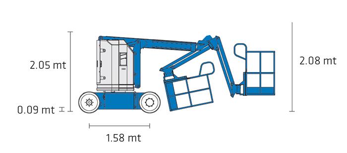 Piattaforma Semovente Articolata Elettrica AE 11 GE - Z 30-20 N