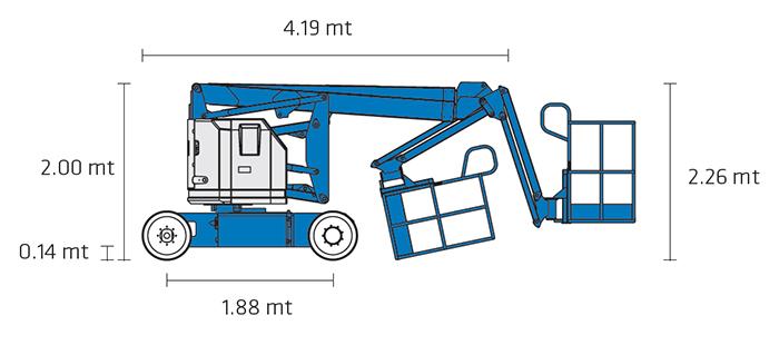 Piattaforma Semovente Articolata Elettrica AE 12 GE - Z 34-22 N