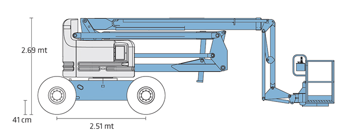 Piattaforma Semovente Articolata Diesel ADX 20 GE - Z 60-34